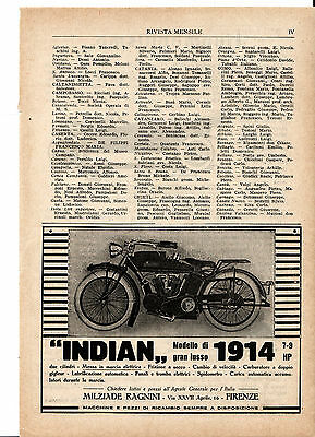 1914 Indian antique motorcycle advertising