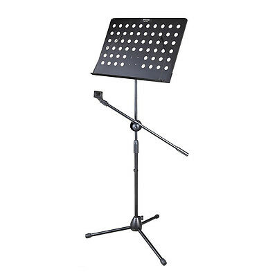 Music Conductor Stand Adjustable Metal Sheet Tripod Holder+Microphone Holder