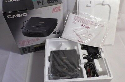Casio PZ-800 Boxed Portable CD Player - AC power adapter - Connection cord black