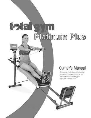 Total Gym Platinum Plus Owners Manual Guide For Fitness Exercise System Equip