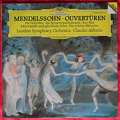 Claudio Abbado LSO Mendelssohn Ouverturen DG 423 104-1 Digital Classical lp