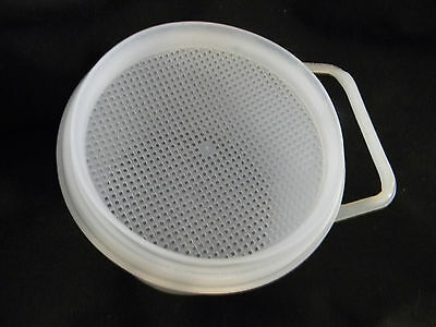 Tupperware vintage strainer over container with handle - VERY  UNUSUAL