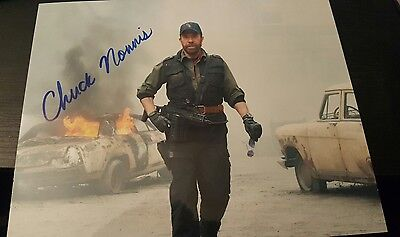 Chuck norris signed photo expendables 2