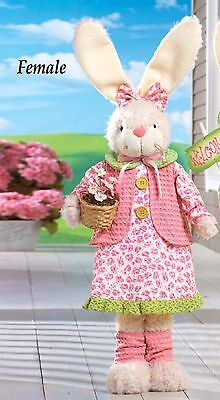 Almost 3' Tall Standing Female Easter Bunny Indoor/Outdoor Porch Home Greeter