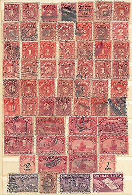 Collection Of Early U.s.a Postage Due And Parcel Post Plus Good Used