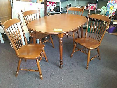 Vintage Tell City Maple Dining Set 4 Chairs 2 Leaves Ex-Mint Cond LOWEST PRICE!!