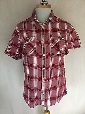 White Stuff Mens Short Sleeve Red Check Shirt Size XL. Great Condition.