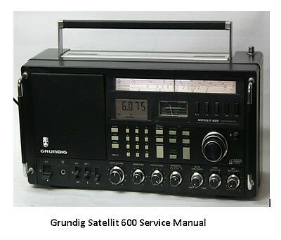 Grundig Satellit 600 Short Wave Service Manual