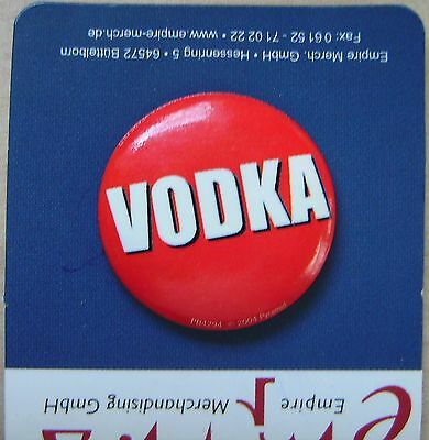 Wodka / Vodka / Button / Badge neu!!!