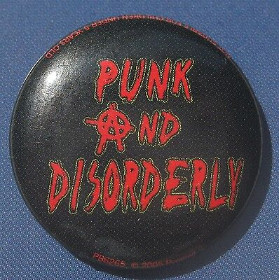 Punk and Disorderly / Button / Badge neu!!!