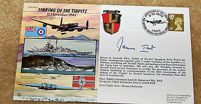 Fdc Sinking Of The Tirpitz Signed James Tait.