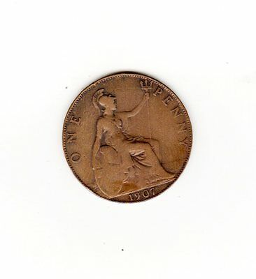 UK Great Britian Coin one penny 1907 sold as seen will combine shipping