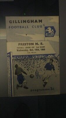 Gillingham v Preston North End - 1960/1 League Cup - first season of competition
