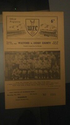 Watford v Derby County - 1960/61 - League Cup - first season of competition