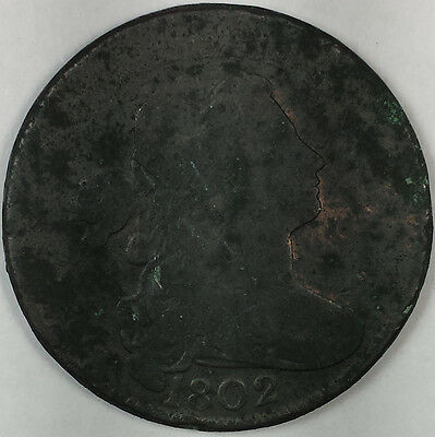 1802 Draped Bust Large Cent - Nice Us Copper Coin