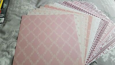 """15 SHEETS 12"""" x 12"""" SCRAPBOOK PAPERS"""