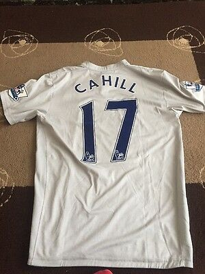 Tim Cahill Match Worn And Squad Signed Everton Shirt
