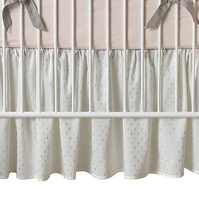 Lambs & Ivy Signature Mix & Match Metallic Crib Dust Ruffle