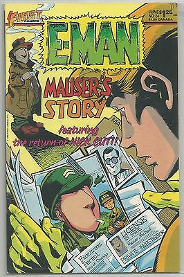 """E-MAN By First Comics """" MAUSER'S STORY """" The Return  Of Nick Cuti # 24"""