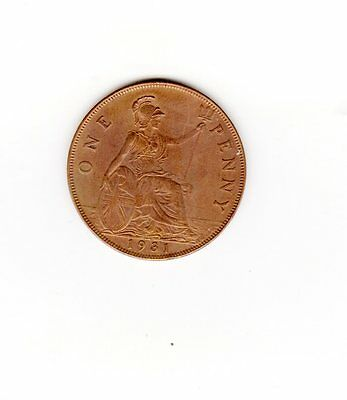 UK Great Britian Coin one penny 1931 sold as seen will combine shipping