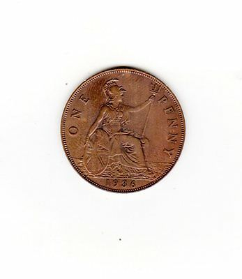 UK Great Britian Coin one penny 1936 sold as seen will combine shipping
