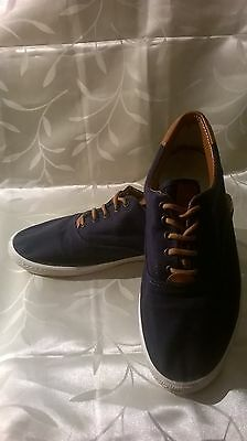 Made in Italy. Navy Blue and Brown casual shoes size 7