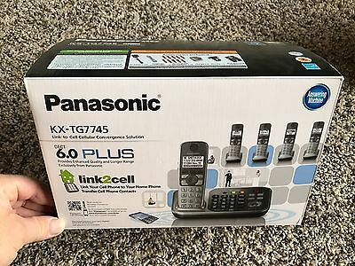 Panasonic KX-TG7745 1.9 GHz Five Handsets Single Line Cordless Phone BLUETOOTH