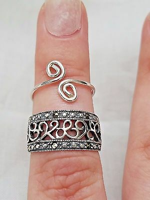 Lot of Vintage Sterling Silver Rings, Marcasites, Filigree, Estate Jewelry