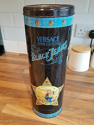 Versace black jeans men tin collectable boutique display