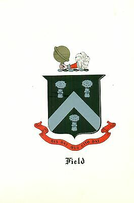 *Great Coat of Arms Field #1 Family Crest genealogy, would look great framed!