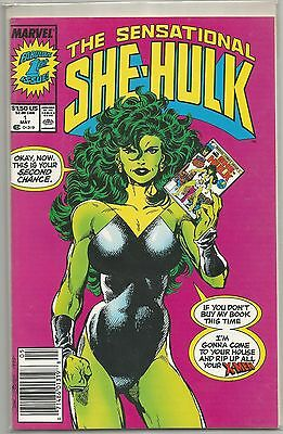 """THE SENSATIONAL """" SHE-HULK """" # 1 By Marvel First Issue !!"""