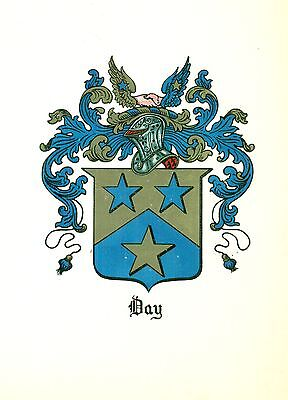 *Great Coat of Arms Day Family Crest genealogy, would look great framed!