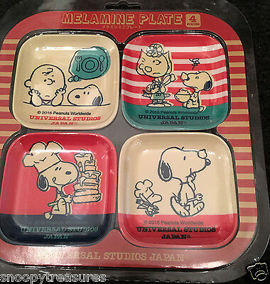 Snoopy 4 Piece Melamine Plate Set