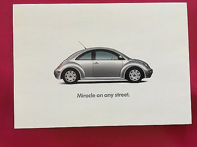 "VW Volkswagen ""Miracle On Any Street"" 1998 Tent Card"