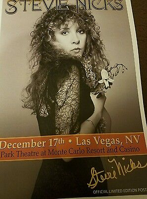 Stevie Nicks Official Limited Edition Tour Poster