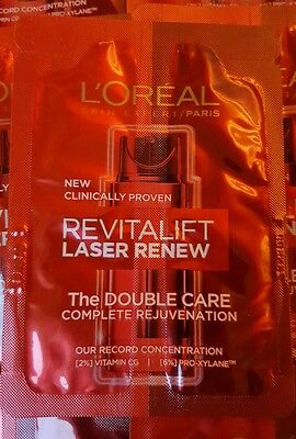 LOREAL REVITALIFT LASER RENEW THE DOUBLE CARE,as seen on TV 48ml travel size