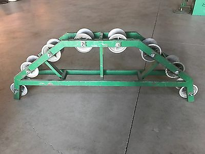 GREENLEE 638 RADIUS CABLE SHEAVE W/ 8-SHEAVE WHEELS & Yokes