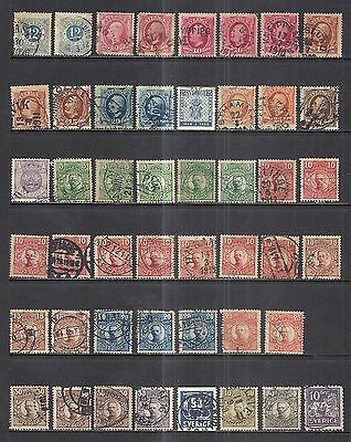 Sweden & Finland  Various Used Stock  1932 - 1943