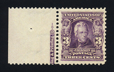 #302, 3c Jackson, VF-OG-NH, sound, with APS certificate, 2017 Scott is $130