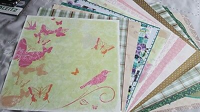 """15 SHEETS 12""""x12"""" SCRAPBOOK PAPERS"""