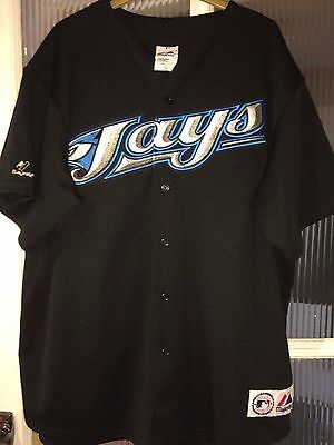 Majestic Toronto Blue Jays MLB Baseball Shirt #25 Delgado XL Black Rare Jersey