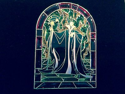 Stained Glass Maleficent Pin Jumbo LE NEW