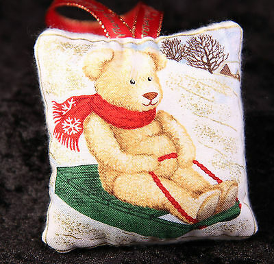 Mini Scented Cushion featuring brown bear Teddy  any ocassion gift design 15