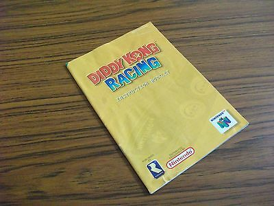 *MANUAL ONLY* N64 Diddy Kong Racing Instruction Nintendo