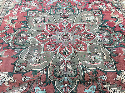 9x12 HAND KNOTTED WOVEN PERSIAN AREA RUG IRAN HERIZ WOOL WOVEN 10 x 13 antique 9
