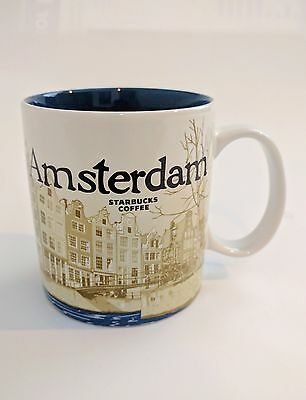 Starbucks City Mug Cup Global Icon Series Amsterdam Netherlands 16oz NEW