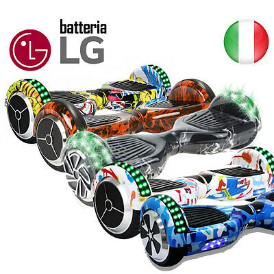 """Hoverboard 6.5"""" Luces Led Y Bluetooth Speaker Self Balance Smart Varios Colores"""