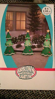 New airblown musical lightsync 3 Christmas trees plays Jingle Bells inflatable