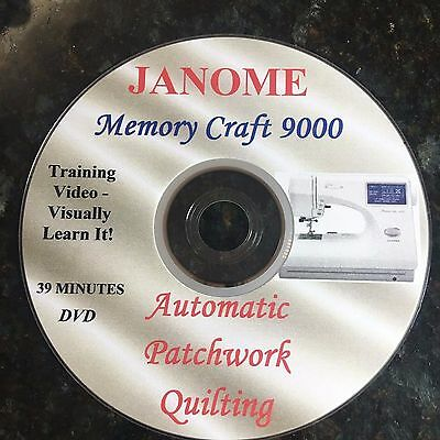JANOME MEMORY CRAFT 9000  - DVD - SEWING TUTORIAL Patchwork Quilting