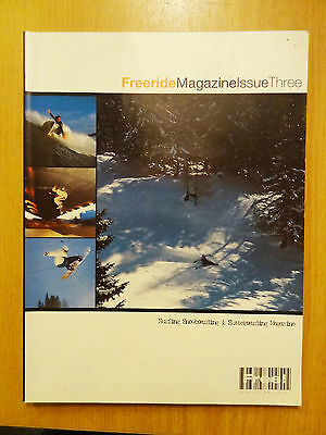 Freeride Magazine Issue 3 1998 Snowboard Snow Board Book Back Issue